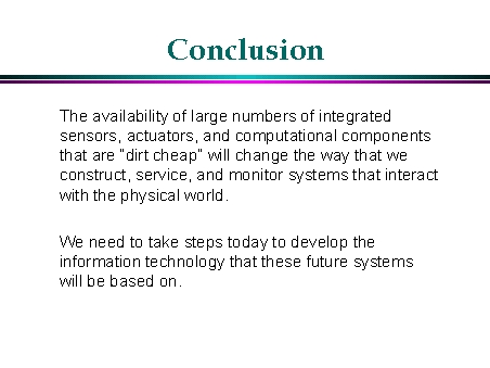components of a conclusion