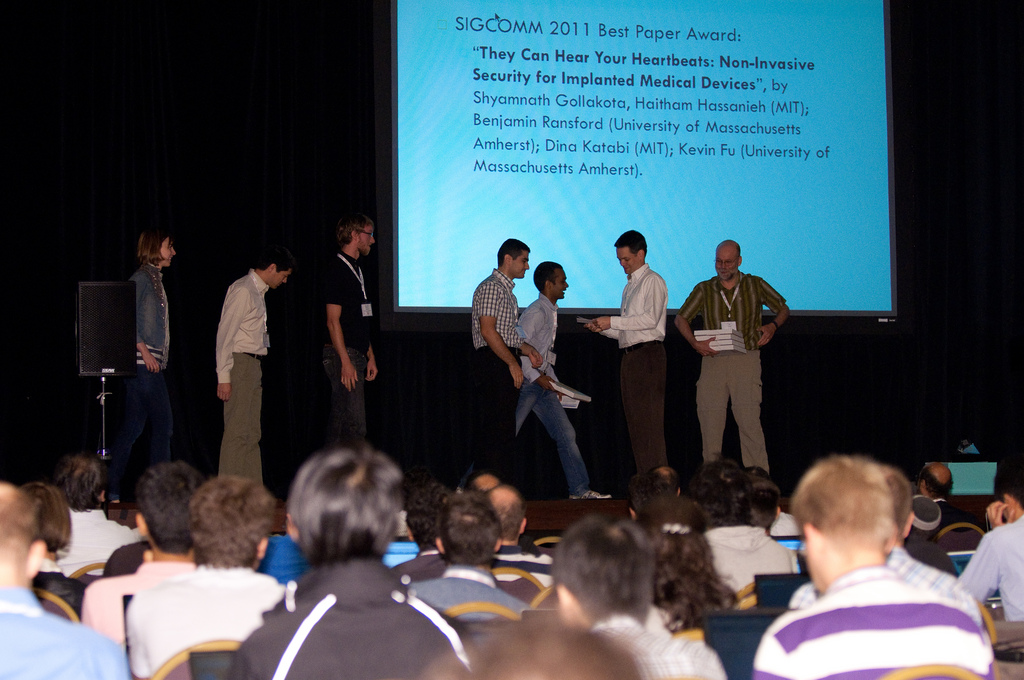 IMD Shield gets the Best Paper Award at SIGCOMM 2011