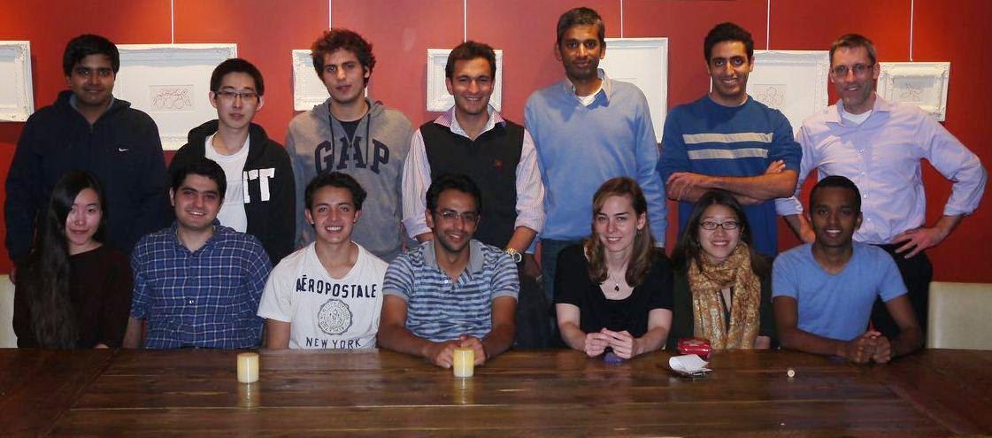 Rahul and Shyam farewell dinner