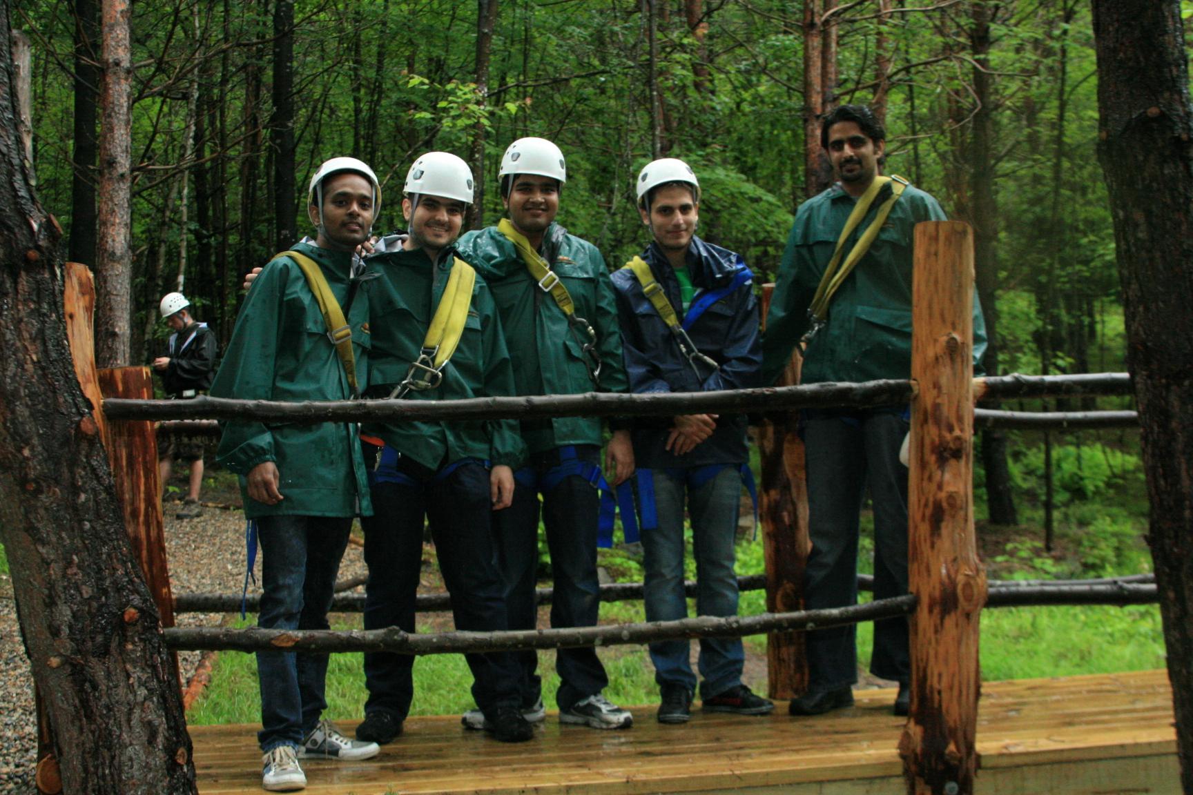 Ziplining in New Hampshire June 2011
